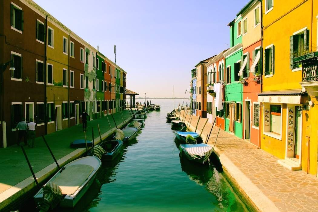 colors river water houses canal